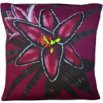 Night Flowers Lily cushion - Claret