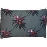 Night Flowers Lily Cushion Boudoir size - Grey