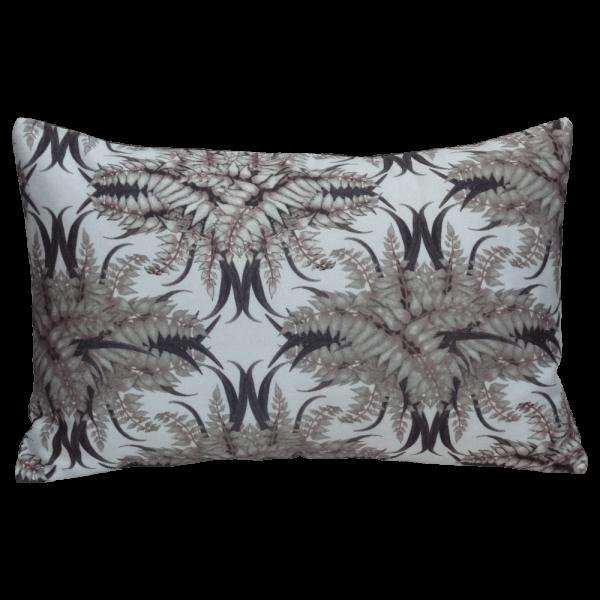 Fern forest Cushion Boudoir Size - Bone
