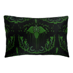 Damask Of Satan Cushion Boudoir Size~ in POISON GREEN