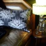 Fern Forest Noir Boudoir Cushion
