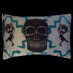 Juju Snake Priest Cushion Boudoir Size - Grey Blue