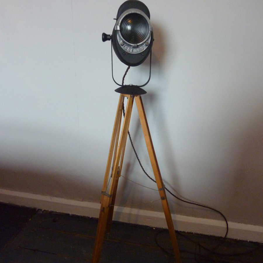 Vintage Studio Light on Tripod by Cremer