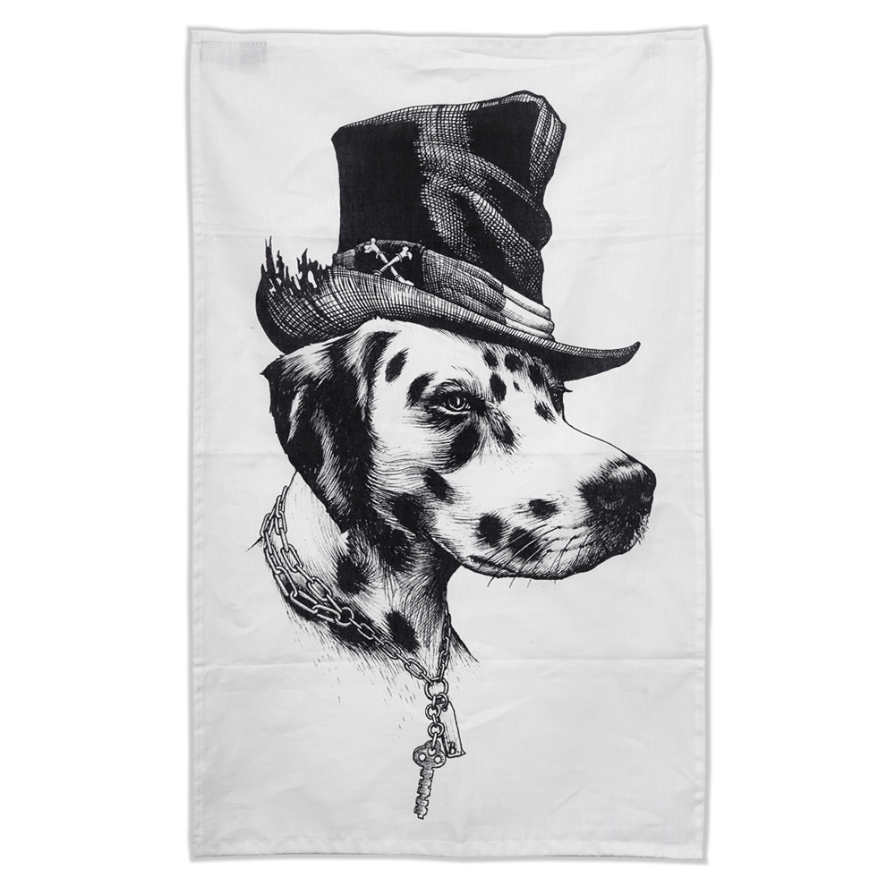 Rory Dobner Brooklyn dog tea towel