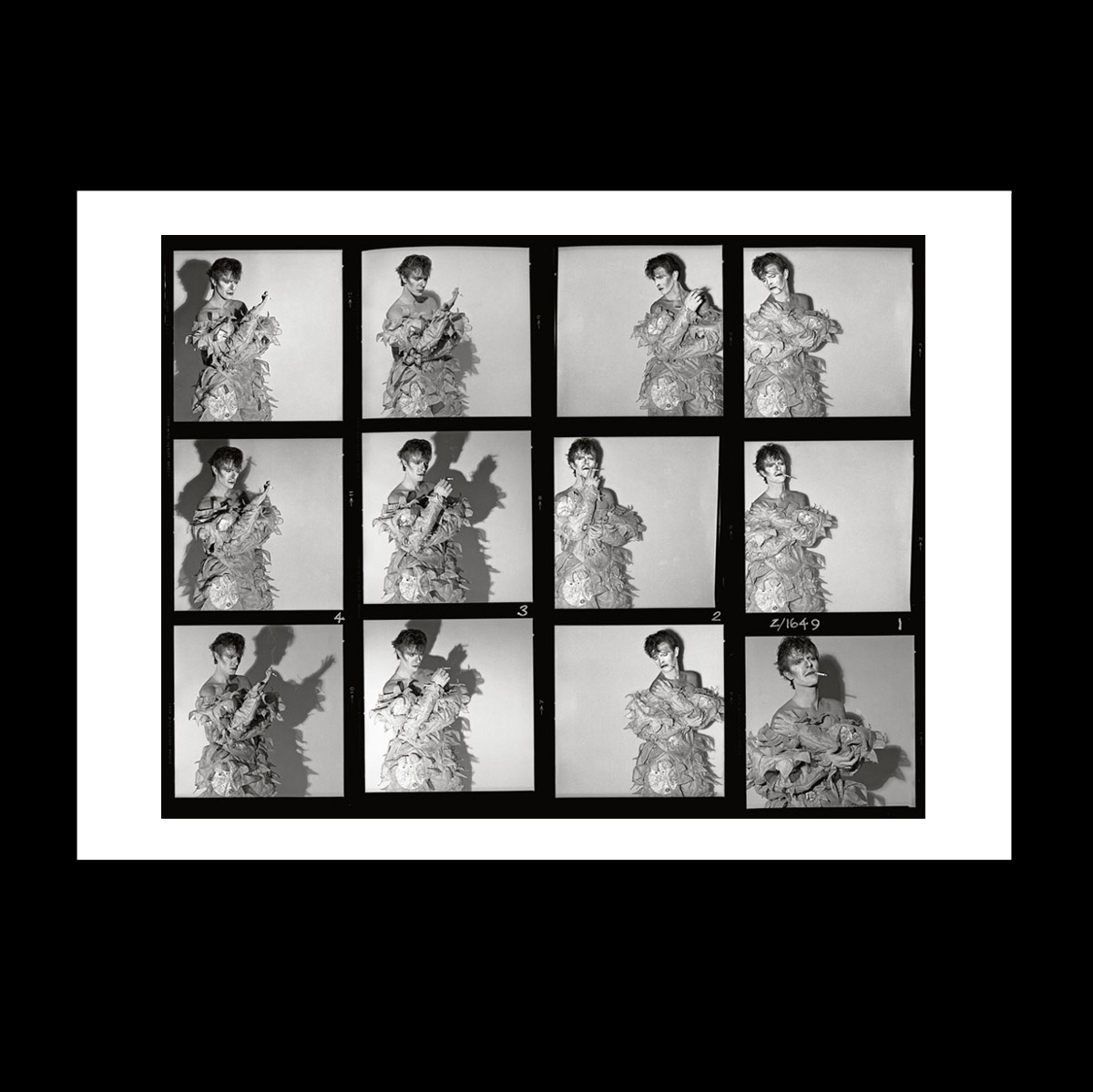 David Bowie Scary Monsters contact sheet print