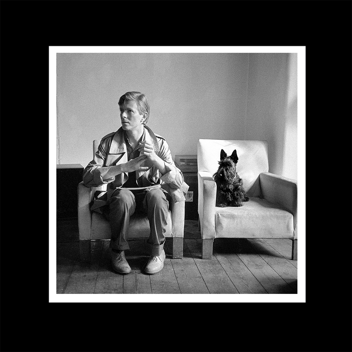 David Bowie with Scottie Dog print